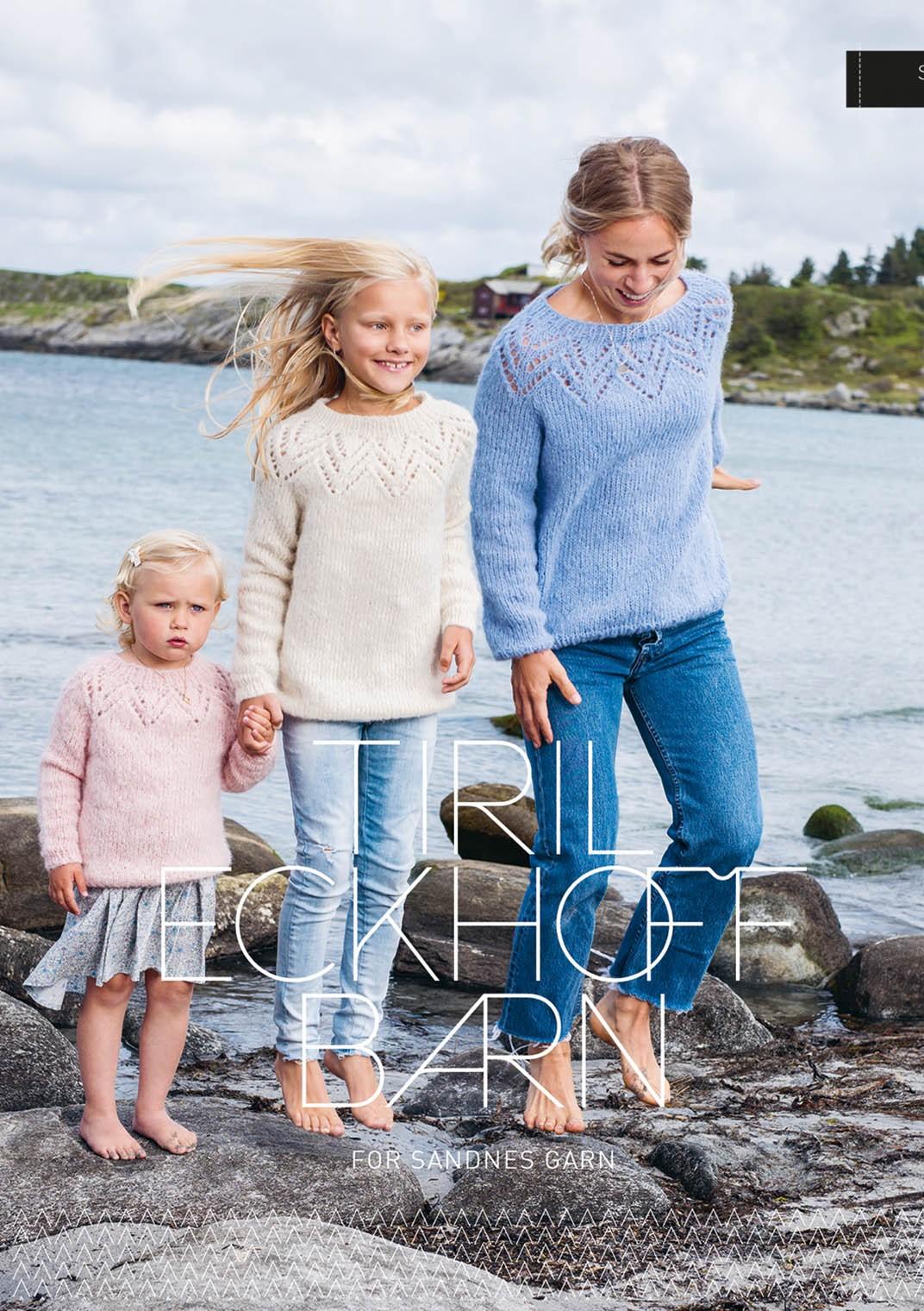 Tiril barnegenser med hullmønster • Kremmerloftet